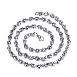 COH0022 BOBIJOO Jewelry High quality silver steel coffee bean chain