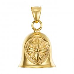 MOT0025 BOBIJOO Jewelry The bell brings good luck Motorcycle Biker Croix de Lys Templar Gold