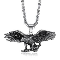 PE0282 BOBIJOO Jewelry Pendant Eagle Symbol USA Freedom Biker Triker