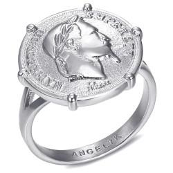 BAF0052 BOBIJOO Jewelry Ring Signet ring Set With Napoleon III Coin Louis Money