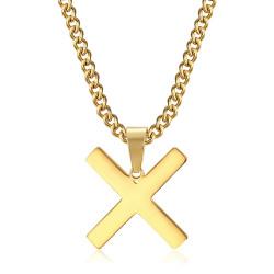 PE0295 BOBIJOO Jewelry Pendant Cross Decussé of Saint Andrew X Gold