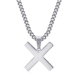 PE0296 BOBIJOO Jewelry Anhänger Kreuz Decussée von Saint Andrew X Silver