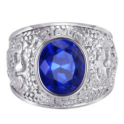 BA0383 BOBIJOO Jewelry American University Ring USA Steel Silver