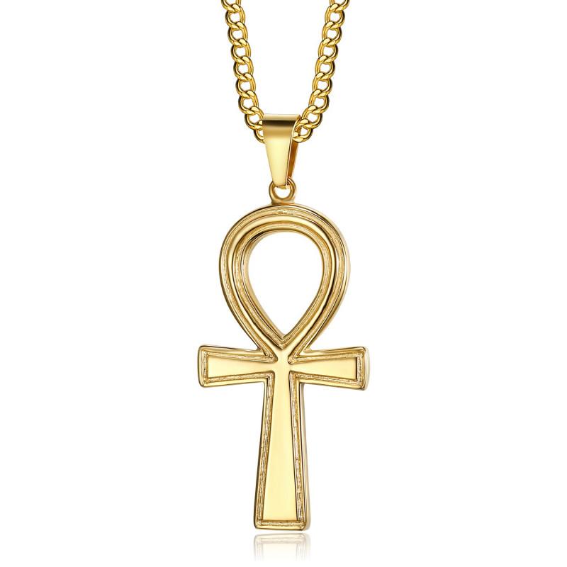 Pendentif Croix Ankh de Vie Egyptienne Or bobijoo