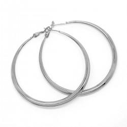 BOF0097S BOBIJOO JEWELRY 50mm Agrent Steel Hoop Hoop Earrings