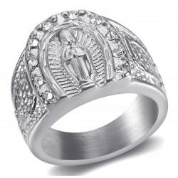 BA0272S BOBIJOO Jewelry Ring Signet Ring Camargue Horseshoe Virgin Steel Silver
