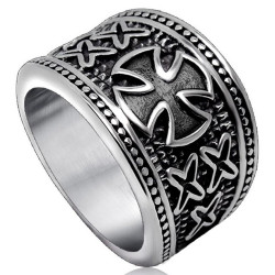 BA0170 BOBIJOO Jewelry Signet Ring Ring Vintage Order of the Templars