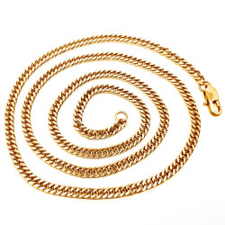 Chain Mesh Curb chain 60cm 4mm Stainless Steel Gold IM#18534