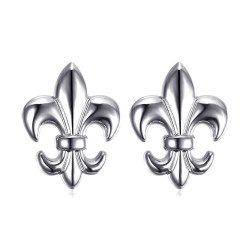 Lot de 2 Pin's Epingle Broche Fleur de Lys Laiton Argenté IM#18587