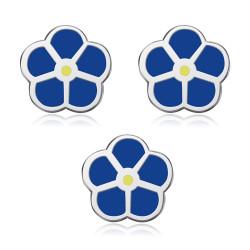 Lot de 3 Pins Fleur Bleue Jaune Myosotis Franc-Maçon Pin's Email IM#18599