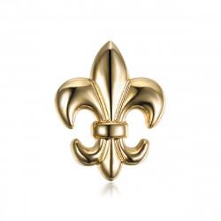Pins Fleur de Lys en laiton Doré à l'or fin bobijoo
