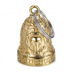 MOT0031 BOBIJOO Jewelry Gremlins bell Live to Ride Skull Motorcycle Chain Gold