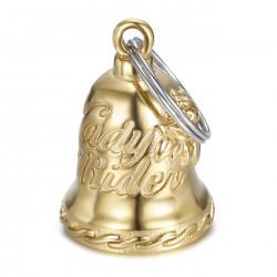 MOT0032 BOBIJOO Jewelry Lady rider motorcycle bell Gold
