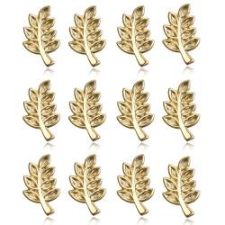 Lot 12 Pins Branche d'Acacia Franc-Maçon Doré à l'Or Fin IM#19062