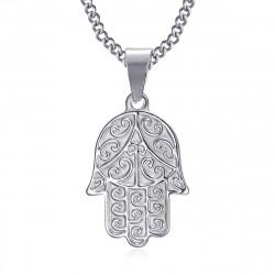 PEF0055S BOBIJOO Jewelry Hand der Fatma Halskette Edelstahl mit Kette 55cm