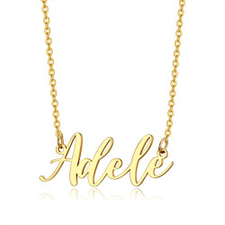 PEF0065 BOBIJOO Jewelry Name necklace Woman Stainless steel Gold plated of your choice