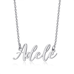 PEF0065S BOBIJOO Jewelry Name necklace Woman Stainless steel Silver of your choice