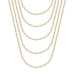 COH0036 BOBIJOO Jewelry Horse mesh 2mm Gold steel trombone chain