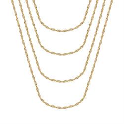 COH0037 BOBIJOO Jewelry Singapore mesh Women's chain Steel Gold