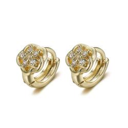 BOE0005 BOBIJOO Jewelry Baby child earrings Gold Gold Flowers Diamonds