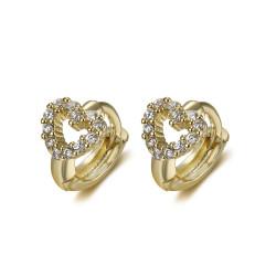 BOE0009 BOBIJOO Jewelry Baby Child Earrings Love Heart