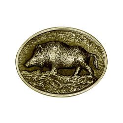 BC0020B BOBIJOO Jewelry Bronze Boar Hunter Belt Buckle