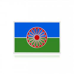Pins gens du voyage, le drapeau rom Argent et émail bobijoo