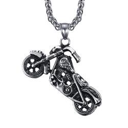 PE0049-MED BOBIJOO Jewelry HD biker pendant Man Patriot motorcycle necklace