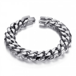 BR0016 BOBIJOO Jewelry Men's curb chain Maillon 13mm Stainless steel