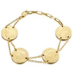 BR0298 BOBIJOO Jewelry Pulsera Louis d'or 4 piezas Napoleon Gold