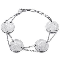 BR0298S BOBIJOO Jewelry Louis d'or bracelet 4 pieces Napoleon Silver