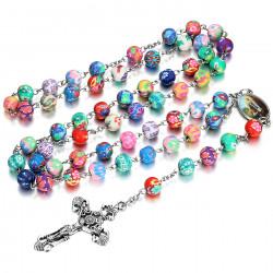 CP0039 BOBIJOO Jewelry Lourdes Rosary Prayer Rosary Decade Rosary Bead clay