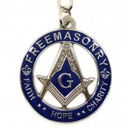 PCL0004 BOBIJOO Jewelry Porte-Clés Masonic FreeMasonzy Faith Hope and Charity