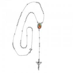 CP0020 BOBIJOO Jewelry Chapelet Doré à l'Or Fin Blanc