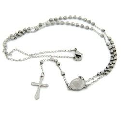 CP0022 BOBIJOO Jewelry Chapelet Finition Couleur Titane Acier Inoxydable Gravé