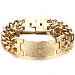 GO0002 BOBIJOO Jewelry Panzer-Armband Mann Kreuz
