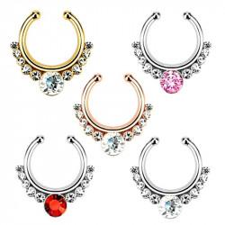 PIP0002 BOBIJOO Jewelry Septum Faux Piercing Nez 5 Couleurs au Choix