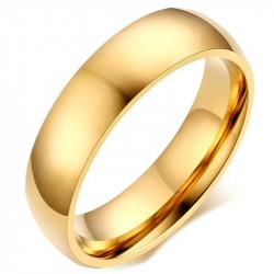 AL0042 BOBIJOO Jewelry Alliance Bague 6mm Doré à l'Or Fin Acier Inoxydable