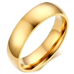 AL0042 BOBIJOO Jewelry Alliance Ring 6mm Gold-plated finish Stainless Steel