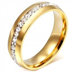 AL0043 BOBIJOO Jewelry Alliance 6mm Ring Gold Zirconium Stainless Steel