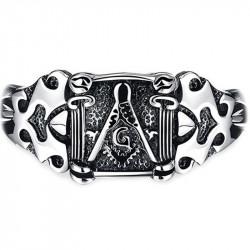 GO0003 BOBIJOO Jewelry Curb Chain Bracelet Masonic Frank Mason
