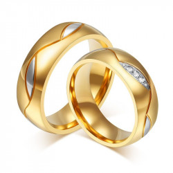 AL0004 BOBIJOO Jewelry Alliance Ring, Gold Man Woman
