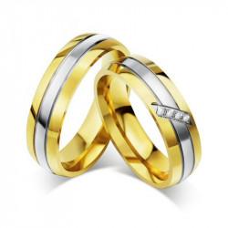 AL0013 BOBIJOO Jewelry Alliance Ring, Gold Rhinestone Woman Man