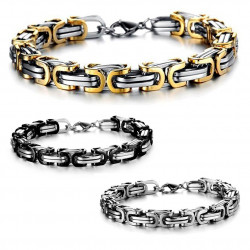 BR0093 BOBIJOO Jewelry Bracelet Mesh Interwoven Stainless Steel 3 colors