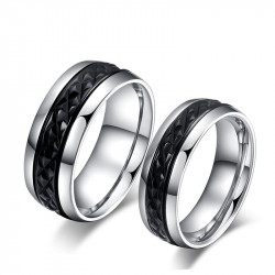AL0015 BOBIJOO Jewelry Alliance Original Stainless Steel Decor Black Titanium