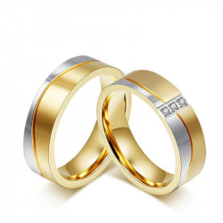 AL0016 BOBIJOO Jewelry Alliance Ring in Gold-plated finish Stainless Steel