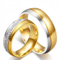 AL0018 BOBIJOO Jewelry Alliance Bague Anneau Doré à l'Or Fin Argenté Strass