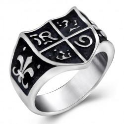 BA0118 BOBIJOO Jewelry Signet ring Ring, Joan of Arc Royalism Lys Templar