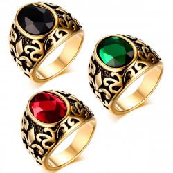 BA0123 BOBIJOO Jewelry Signet ring Gilded Gold finish Fleur-de-Lys of Choice