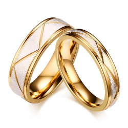 AL0051 BOBIJOO Jewelry Alliance, Golden Fine Gold, Brushed Silver-Tone Trend